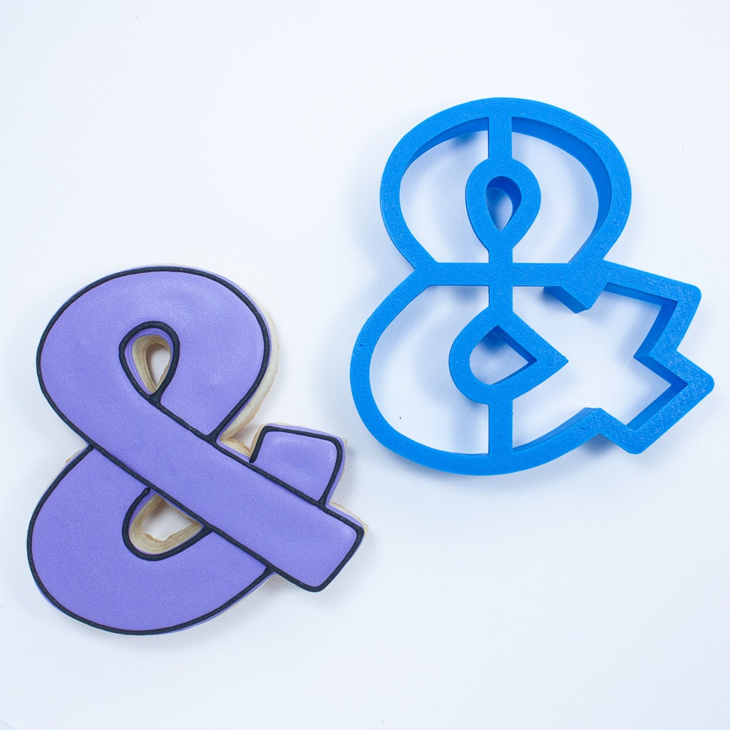 Ampersand cookie cutter with inner cutouts from for Ampersand decoration etsy