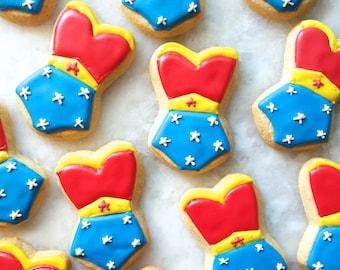 Wonder Woman Corset Cookies