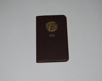 Cotton Belt Route Railroad Pocket Calendar Datebook 1971