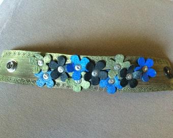 Leather cuff style bracelet