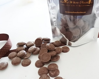 Organic Milk Chocolate Buttons available in 100g/250g/500g Birthday Gifts, free from gluten and soya,