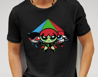 Shirt inspired by the Powerpuff Girls series VS villains from the Batman franchise