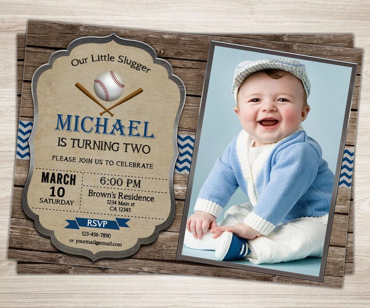 Dorable Baseball 1st Birthday Invitations Elaboration - Invitations ...