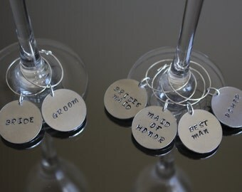Wedding / Bridal Party Wine Glass Charms