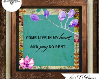 Come Live In My Heart (Digital Bohemian Art)