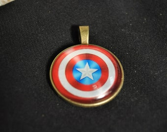 American Color Necklace Charm
