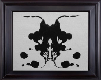Ink Blot Print Instant download black & white psycology Art home decor illusion wall Art digital down instantly on your wall in minutes