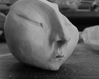 Ceramics sleeping face