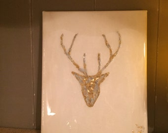 Deer Antler Painting