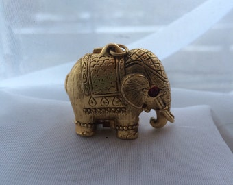 Elephant perfume locket charm necklace