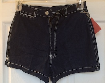 Castle square high waisted jean shorts