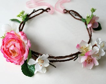 Flower Crown Pink Rose