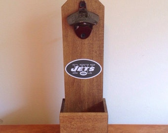 Wall Mounted Bottle Opener - New York Jets