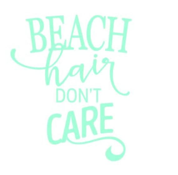 Beach Hair Don't Care Decal for Yeti Water Bottle by ...