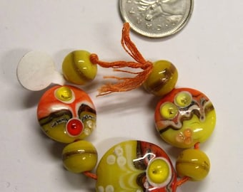 Set of Seven Beads