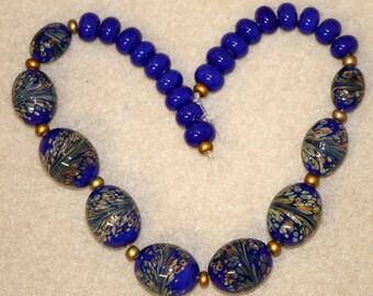Lapis Blue Bead Set