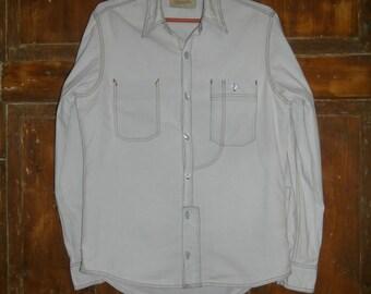 WRANGLER Bleached Denim Shirt Men's size M
