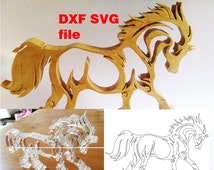 Horse SVG and DXF file for cutting laser, vinyl, cnc and scroll saw