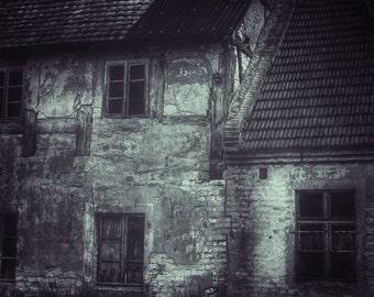 Abandoned House Photo - Abandoned Digital Photo - House Black and White Photo - Black and White - Digital Photo - Fine Art Photography