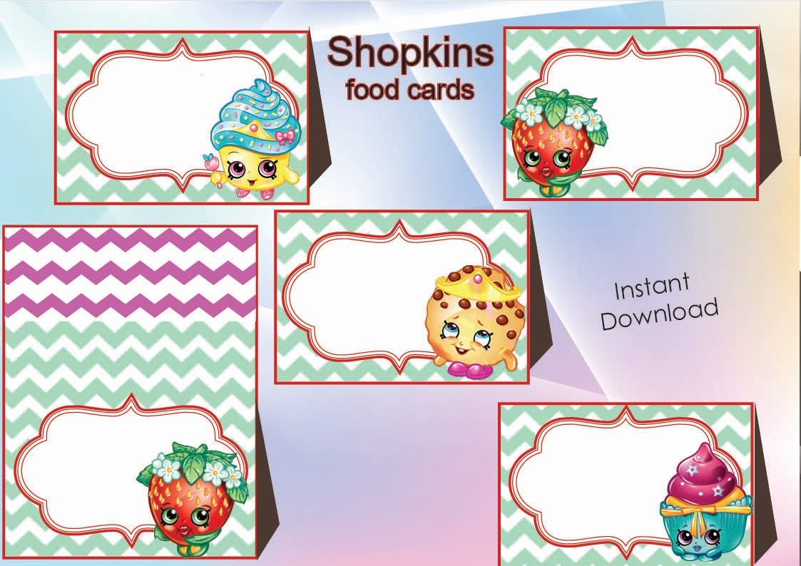 Resource image pertaining to free printable shopkins food labels