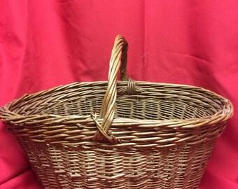 Wicker Handle Basket for Harvest or Display