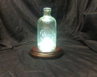 Antique Glass Bottle Lamp Art