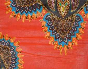 Red Java Wax Prints African Ankara Fabric Per Yard