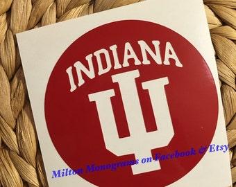Indiana University Vinyl Decal