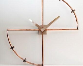 """Copper Mod wall clock. """"minimal"""""""