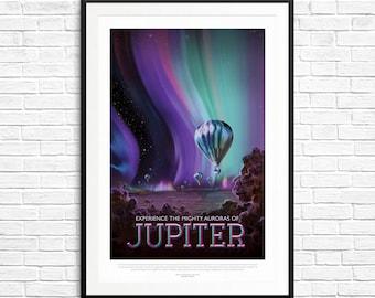 NASA Jupiter Poster, Planet Jupiter, Jupiter Art, Solar System Art, Space Exploration, Astronauts, NASA Posters, NASA Prints, Jupiter Prints
