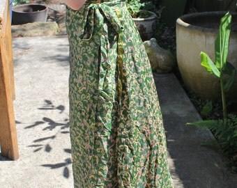 Summer Pure Silk Indian Wrap Skirt