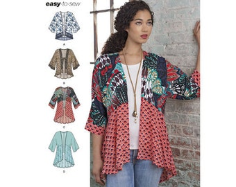 Sewing Pattern for Misses' Fashion Kimonos in sizes XXS to XXL, Simplicity Pattern 8172, Open Cardigan Pattern, New Pattern, Tunic, Jacket