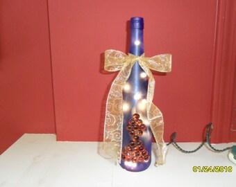 Cobalt Blue Wine Bottle Night Light