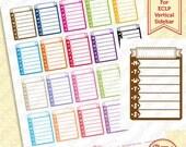 Printable | ECLP Sidebar Weekly Tasks / Habits Planner Stickers | Functional | Digital Download | Habit Tracker