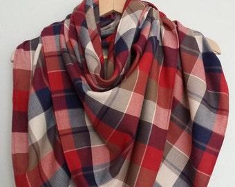 Trendy, scarf, cheche size XL - Scottish - unisex