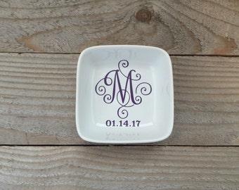 Monogrammed Jewelry Dish, Ring Dish, Personalized Ring Dish, Customized Jewelry Dish, Jewelry Dish, Bridesmaid Gift, Jewelry Holder, Storage