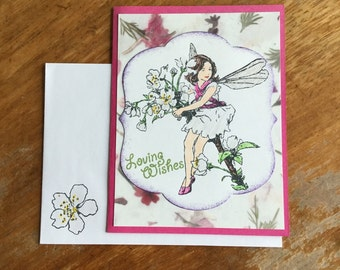 Loving Wishes Fairy Card