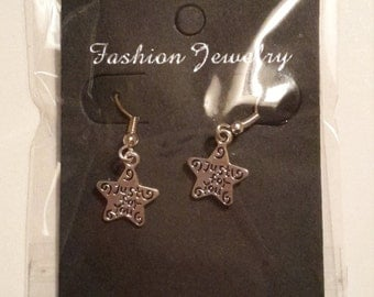 Just for you star charm earrings