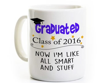 Graduation Gift - Class of 2016 - Funny Graduation Gift - Personalized - High School Graduate - College Graduate
