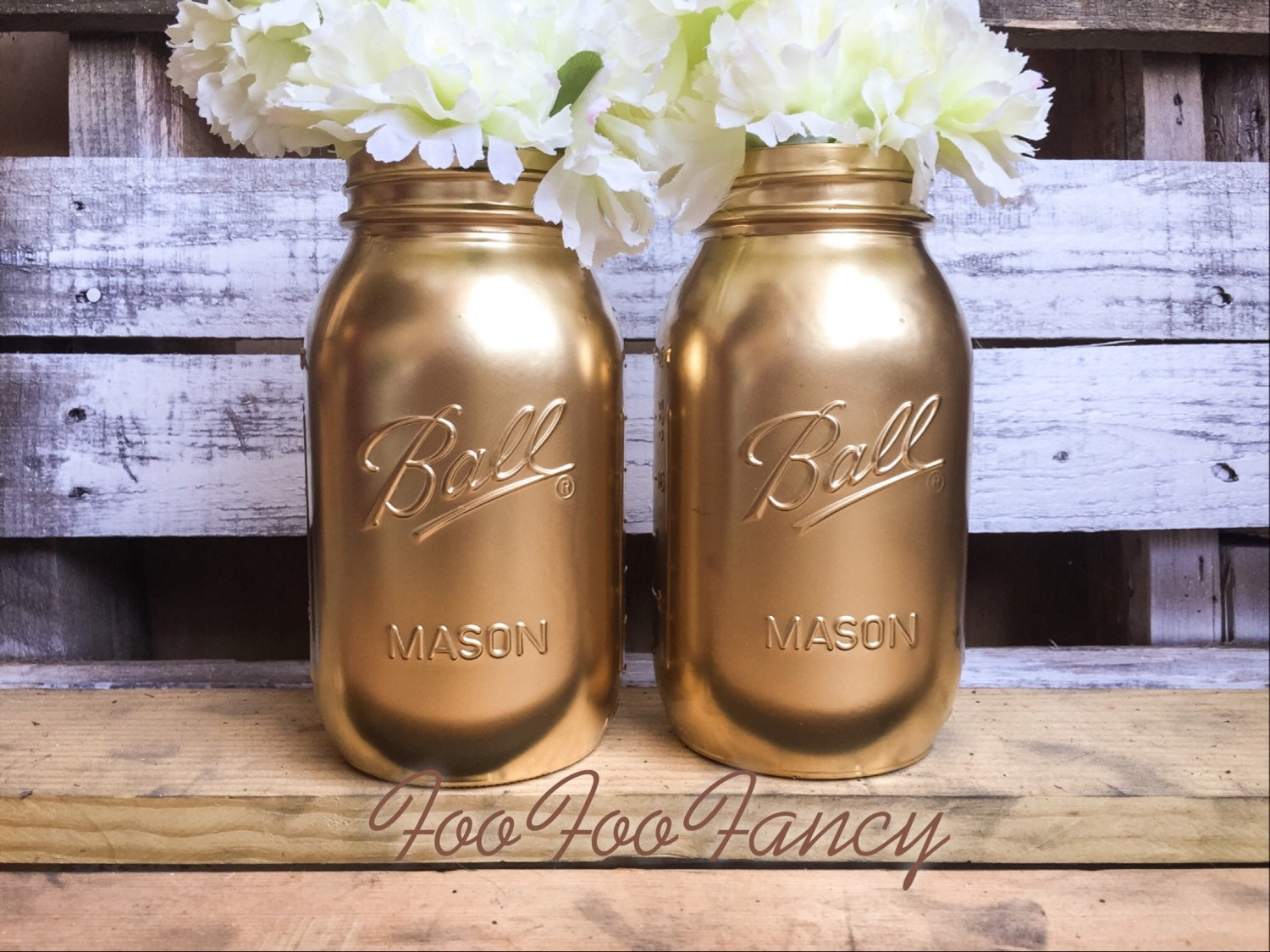 Large size gold mason jars centerpieces home decor