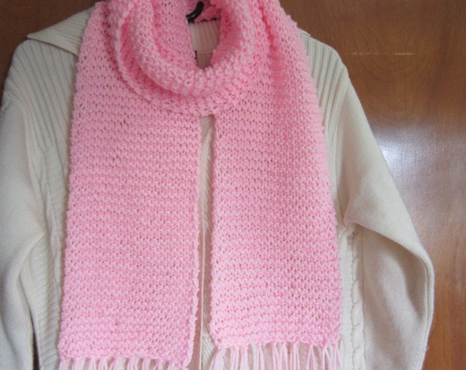 Tasseled Scarf - Pink