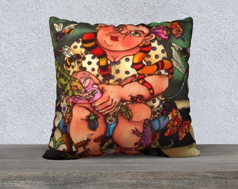 Bugged, Pillow Cover 22x22in.
