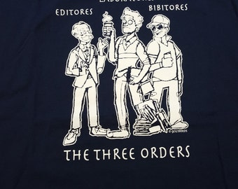 Three orders of academia t-shirt
