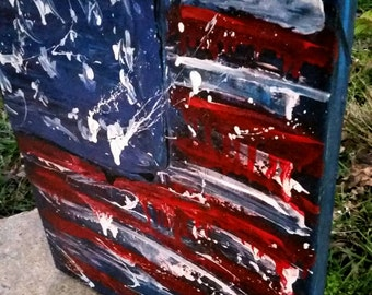 American Flag painting by Angela Turney