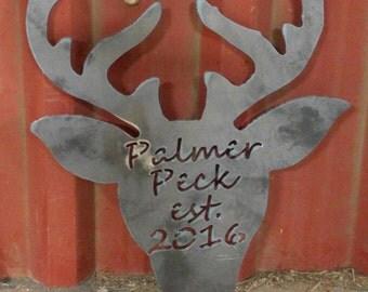 Metal Deer Sign