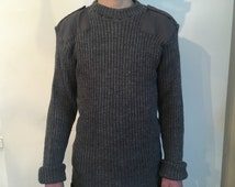 Vintage Men's Jacket Sweater The Wodly Pully 100% wool Grey Medium size Excellent Condition
