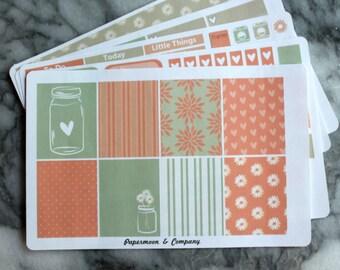 Shabby Chic Weekly Planner Sticker Set