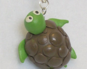 Smiling Turtle Pendant Necklace