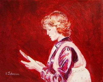 Woman Reading, original acrylic painting