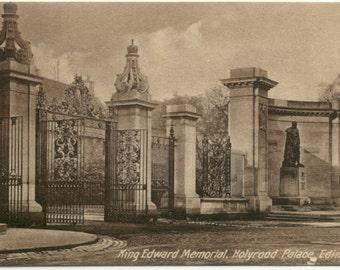 King Edward Memorial @ Holyrood Palace EDINBURGH Scotland Sepia POSTCARD Post Card